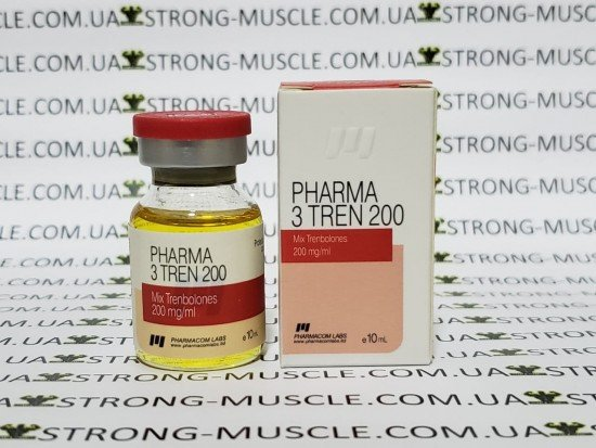 купить Pharmacom Labs Pharma 3 Tren 200, 10 мл, 200 мг/мл (ТриТрен Микс Тренболонов)