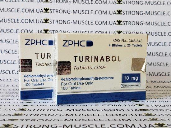 купить ZPHC Turinabol, 100 таб, 10 мг/таб (Туринабол) китайский