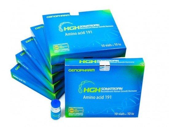 купить Гормон Роста HGH Somatropin Amino Acid 191, 10*10IU, Генофарм